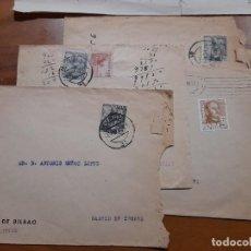 Sellos: 4 SOBRES BANCO DE BILBAO MURCIA 1947, 1948 Y 1950.. Lote 233967160