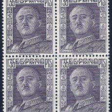 Sellos: EDIFIL 1061 GENERAL FRANCO 1949 (BLOQUE DE 4). MNH **. Lote 253337205