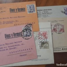 Sellos: 5 TARJETAS COMERCIALES 1941, 1945 Y 1949. Lote 234320145