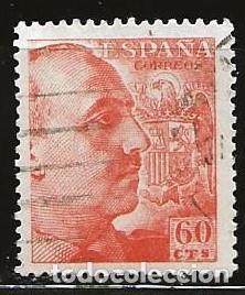 ESPAÑA 1939 (873) GENERAL FRANCO (USADO) (Sellos - España - Estado Español - De 1.936 a 1.949 - Usados)