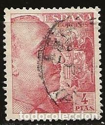ESPAÑA 1940 (933) GENERAL FRANCO (USADO) (Sellos - España - Estado Español - De 1.936 a 1.949 - Usados)
