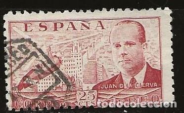 ESPAÑA 1945 (941) JUAN DE LA CIERVA (USADO) (Sellos - España - Estado Español - De 1.936 a 1.949 - Usados)