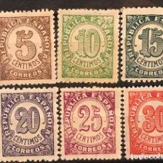 Sellos: EDIFIL 745 750 SERIE COMPLETA MNH CENTRADO SELLOS NUEVOS ESPAÑA 1938 CIFRAS. Lote 235568570