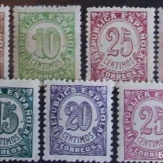 Sellos: EDIFIL 745 750 SERIE COMPLETA MNH CENTRADO SELLOS NUEVOS ESPAÑA 1938 CIFRAS. Lote 235568705
