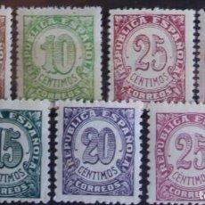 Sellos: EDIFIL 745 750 SERIE COMPLETA MNH CENTRADO SELLOS NUEVOS ESPAÑA 1938 CIFRAS. Lote 235568775