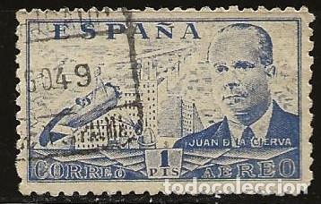 ESPAÑA 1941 (944) JUAN DE LA CIERVA (USADO) (Sellos - España - Estado Español - De 1.936 a 1.949 - Usados)