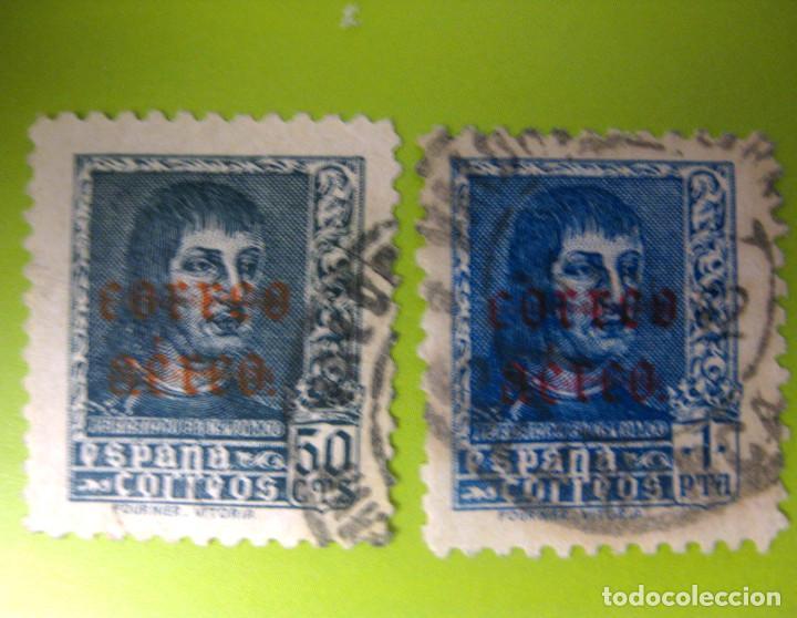 ESPAÑA. AÑO 1938, EDIFIL 845/46 US. ''FERNANDO EL CATÓLICO - SOBR. CORREO AÉREO''./ (VER FOTO). (Sellos - España - Estado Español - De 1.936 a 1.949 - Usados)