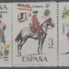 Sellos: LOTE G-SELLOS ESPAÑA NUEVOS SERIE SIN FIJASELLOS UIFORMES 1975. Lote 235688615
