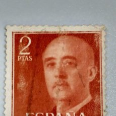 Sellos: SELLO ESPAÑA 1157.2 PESETAS ROJO. 1955-56. USADO.. Lote 235862095