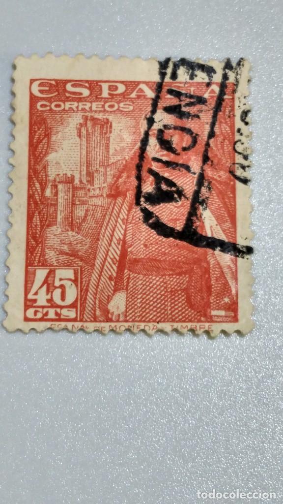 SELLO ESPAÑA 1028. EDIFIL. GRAL.FRANCO CASTILLO DE LA MOTA. 1948-54. USADO. (Sellos - España - Estado Español - De 1.936 a 1.949 - Usados)