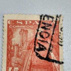 Sellos: SELLO ESPAÑA 1028. EDIFIL. GRAL.FRANCO CASTILLO DE LA MOTA. 1948-54. USADO.. Lote 235862485