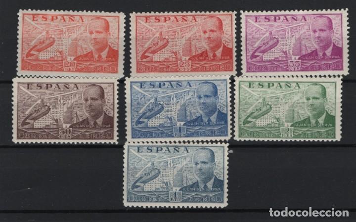 R78.G20/ ESPAÑA 1939, EDIFIL 880/86 MNH**, JUAN DE LA CIERVA, SIN FIJASELLOS, MUY BONITOS (Sellos - España - Estado Español - De 1.936 a 1.949 - Nuevos)