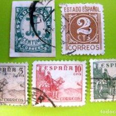 Sellos: ESPAÑA. AÑOS 1940, EDIFIL 914/18 US. ''CIFRAS Y CID''./ (VER FOTO).. Lote 236272020