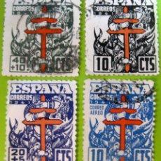 Sellos: ESPAÑA. AÑOS 1941, EDIFIL 948/51 US. ''PRO-TUBERCULOSOS''./ (VER FOTO).. Lote 236274020