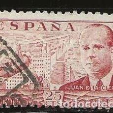 Sellos: ESPAÑA 1945 (941) JUAN DE LA CIERVA (USADO). Lote 236653080