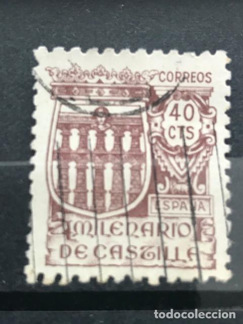 EDIFIL 978 SELLOS USADOS ESPAÑA AÑO 1944 MILENARIO DE CASTILLA (Sellos - España - Estado Español - De 1.936 a 1.949 - Usados)