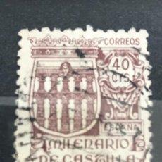 Sellos: EDIFIL 978 SELLOS USADOS ESPAÑA AÑO 1944 MILENARIO DE CASTILLA. Lote 236800340