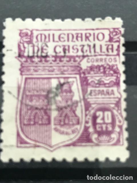 EDIFIL 980 SELLOS USADOS ESPAÑA AÑO 1944 MILENARIO DE CASTILLA (Sellos - España - Estado Español - De 1.936 a 1.949 - Usados)