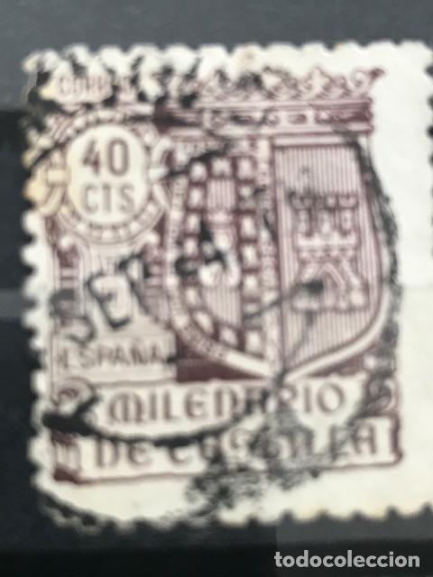 EDIFIL 981 SELLOS USADOS ESPAÑA AÑO 1944 MILENARIO DE CASTILLA (Sellos - España - Estado Español - De 1.936 a 1.949 - Usados)