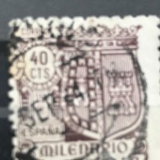 Sellos: EDIFIL 981 SELLOS USADOS ESPAÑA AÑO 1944 MILENARIO DE CASTILLA. Lote 236801575