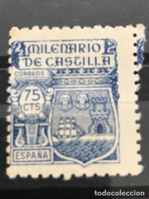 EDIFIL 982 SELLOS USADOS ESPAÑA AÑO 1944 MILENARIO DE CASTILLA (Sellos - España - Estado Español - De 1.936 a 1.949 - Usados)