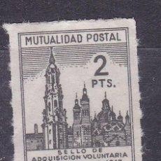 Sellos: JJ3-BENÉFICOS MUTUALIDAD POSTAL CORREOS 2 PTAS LA SEO ZARAGOZA NUEVO. SIN GOMA. FORMATO PEQUEÑO. Lote 236835835