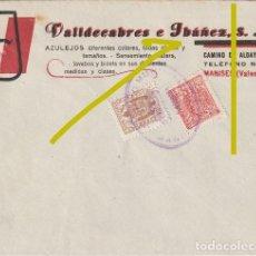 Sellos: SOLO SOBRE SIN CARTA - VALLDECABRES E IBAÑEZ AZULEJOS CAMINO DE ALDAYA 8 MANISES VALENCIA - R-11. Lote 236910070
