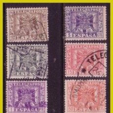 Sellos: TELÉGRAFOS 1949 ESCUDO DE ESPAÑA, EDIFIL Nº 85 A 92 (O) COMPLETA. Lote 237267795