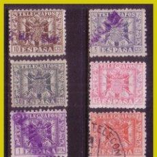 Sellos: TELÉGRAFOS 1940 ESCUDO DE ESPAÑA, EDIFIL Nº 76 A 84, SIN 80 (O). Lote 237267925