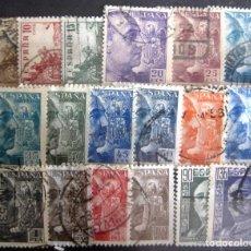 Sellos: ESPAÑA. AÑO 1949-1953, EDIFIL 1044/61 US ''CID Y FRANCO''./ USADOS./ FOTOS.. Lote 237396345