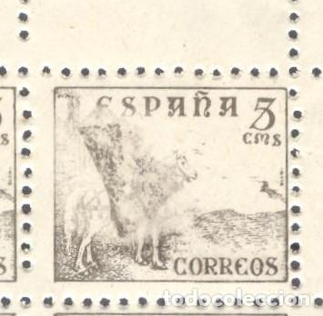Sellos: cid - 5 cts (916) - Bloque de 8 esquina superior derecha, defecto de impresión - Foto 2 - 237857935