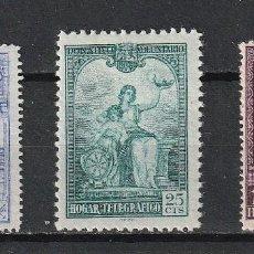 Sellos: ESPAÑA.BENEFICIENCIA.HUERFANOS DE TELEGRAFOS.ESTADO ESPAÑOL.EDIFIL Nº10,11 Y 12.NUEVOS.1937.. Lote 239060105