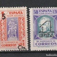 Sellos: BENEFICENCIA.ESPAÑA.EDIFIL Nº27Y28.HABILITADOS NUEVO VALOR.1938.NUEVOS.ESTADO ESPAÑOL 1936 A 1949. Lote 239466205