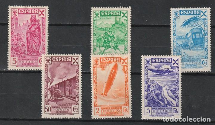 ESPAÑA.BENEFICENCIA.ESTADO ESPAÑOL.EDIFIL Nº21-25.HISTORIA DEL CORREO.NUEVOS.1938 (Sellos - España - Estado Español - De 1.936 a 1.949 - Nuevos)