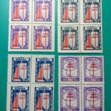 Sellos: ESPAÑA. 1943. EDIFIL 970/973**. BLOQUE DE 4.. Lote 240556160