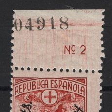 Sellos: TV_003/ EDIFIL 768, AÑO 1938, CRUZ ROJA ESPAÑOLA MNH**, SIN /F.. Lote 241092690
