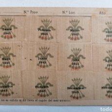 Sellos: FALANGE FET Y JONS. CARTILLA CUPONES AÑO 1945.. Lote 241934160