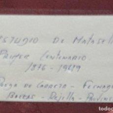 Sellos: SELLOS ESPAÑA BONITO ESTUDIO DE MATASELLOS PRIMER CENTENARIO Y G FRANCO. Lote 242275365