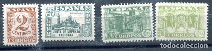 EDIFIL 803, 805, 806 Y 810. 4 SELLOS DIFERENTES DE LA JUNTA DE DEFENSA. NUEVOS SIN FIJASELLOS. (Sellos - España - Estado Español - De 1.936 a 1.949 - Nuevos)