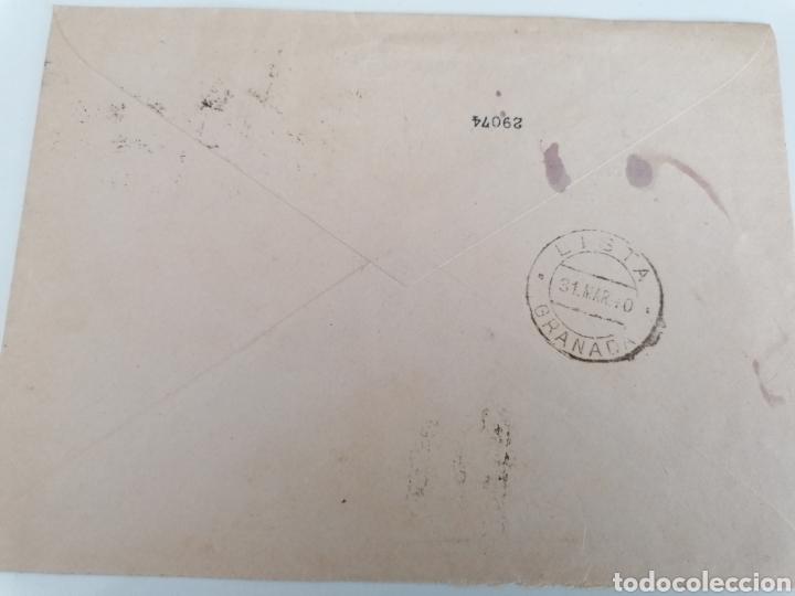 Sellos: BARCELONA A GRANADA. CAJA DE PENSIONES PARA LA VEJEZ AL INSTITUTO DE ANDALUCIA ORIENTAL. 1940 - Foto 2 - 244931975