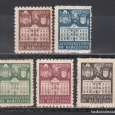 Francobolli: BARCELONA. 1942 EDIFIL Nº 33 / 37 /**/, SIN FIJASELLOS. Lote 245287950
