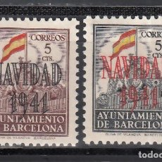 Francobolli: BARCELONA. 1942 EDIFIL Nº SH 31 / SH 32 /**/, SIN FIJASELLOS. Lote 245288635