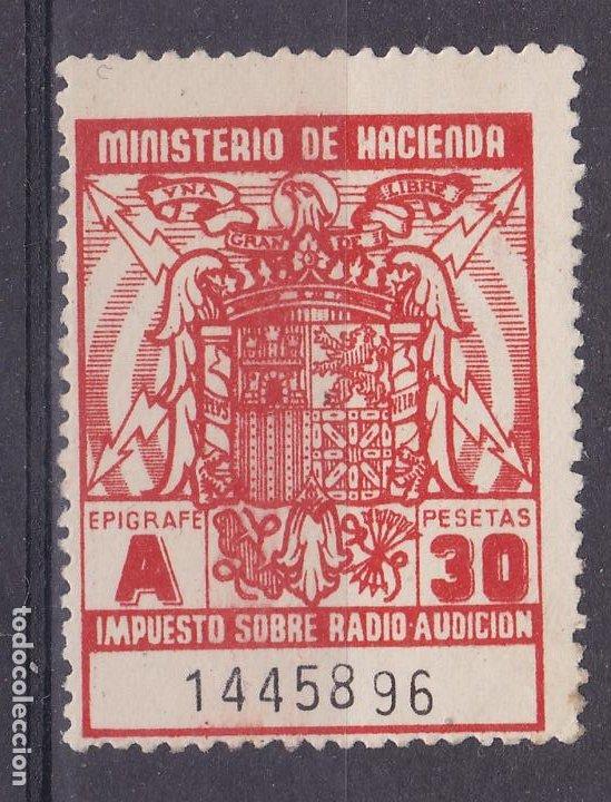 SS47- FISCALES IMPUESTO RADIO AUDICIÓN 30 PTAS ** SIN FIJASELLOS. ROJO PAPEL BLANCO (Sellos - España - Estado Español - De 1.936 a 1.949 - Nuevos)