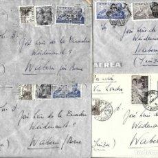 Sellos: 1946-47 LOTE 4 CARTAS BARCELONA A SUIZA CORREO AÉREO.. Lote 245383190