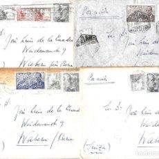 Sellos: 1946-47 LOTE 4 CARTAS BARCELONA A SUIZA CORREO AÉREO.. Lote 245399925