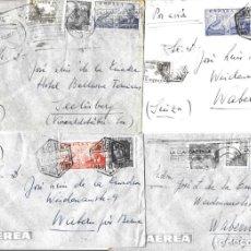 Sellos: 1946-47 LOTE 4 CARTAS BARCELONA A SUIZA CORREO AÉREO.. Lote 245400625