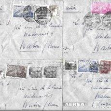 Sellos: 1946-47 LOTE 4 CARTAS BARCELONA A SUIZA CORREO AÉREO.. Lote 245401300