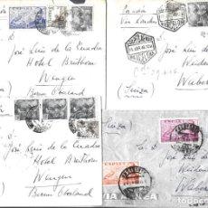 Sellos: 1946-47 LOTE 4 CARTAS BARCELONA A SUIZA CORREO AÉREO.. Lote 245402760