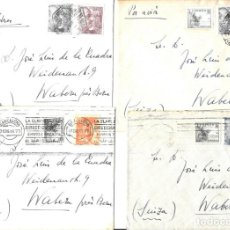 Sellos: 1946-47 LOTE 4 CARTAS BARCELONA A SUIZA CORREO AÉREO.. Lote 245403395