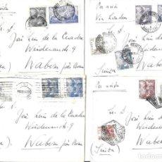 Sellos: 1946-47 LOTE 4 CARTAS BARCELONA A SUIZA CORREO AÉREO.. Lote 245405360